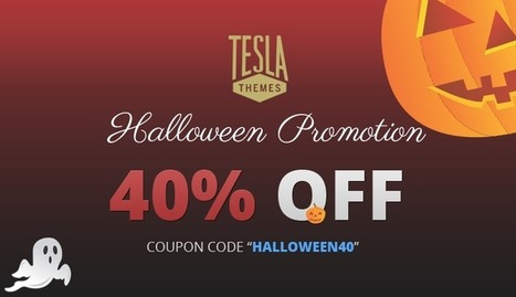 Halloween Promotion: 40% OFF on all our WordPress Themes | TeslaThemes | Clean WordPress Themes | Scoop.it