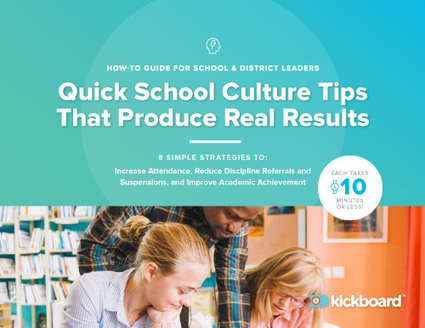 PBIS & Culture Playbook - School culture tips to produce results | Cool School Ideas | Scoop.it