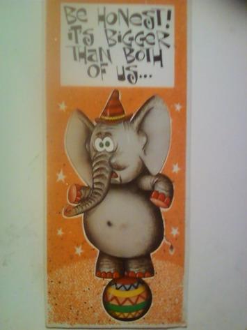 VINTAGE ADULT HUMOR GREETING CARD * BE HONEST! IT'S BIGGER THAN BOTH OF US...* UNUSED 1970'S | Kitsch | Scoop.it