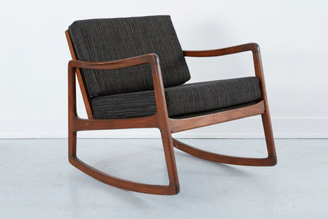 Danish Rocking Lounge Chair  | whats been spotted on etsy today? | Scoop.it
