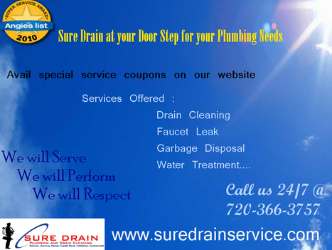 Sure Drain for your Plumbing Needs in Colorado | Plumbing Services | Scoop.it