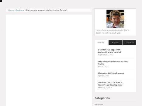 Backbone.js apps with Authentication Tutorial | Nodejs-code | Scoop.it