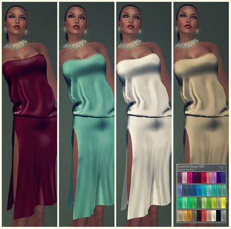 SUPREME SPLIT DRESS 40 COLORS in the HUD !! | MIMI'S CHOICE IN SECOND LIFE | Scoop.it