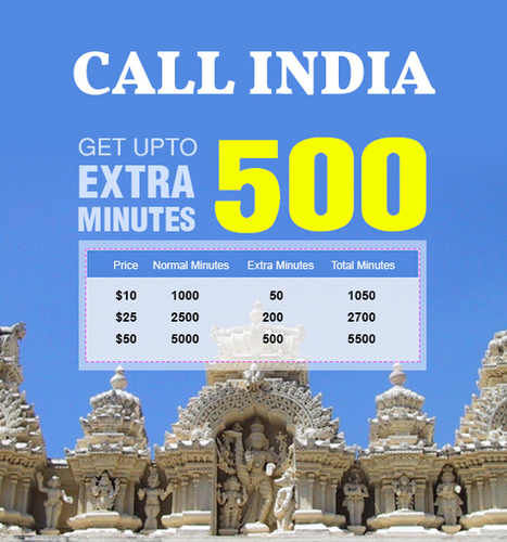 Amantel India Calling Offer - Get upto 500 Extra Minutes | Cheap International Calling | Scoop.it