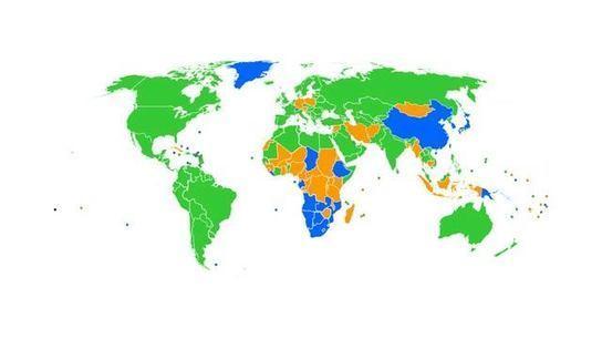 地図で見る、国別最も使われているブラウザ