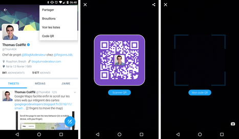 Twitter : un QR code pour suivre les utilisateurs, comme sur Snapchat | Usages professionnels des médias sociaux (blogs, réseaux sociaux...) | Scoop.it