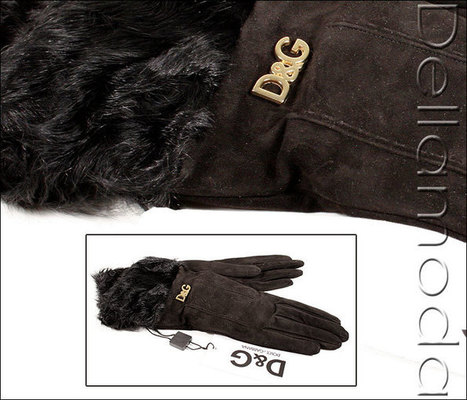 Dolce & Gabbana Gloves Black Suede with Fur Lining(dg19)   Online Shopping   Scoop.it