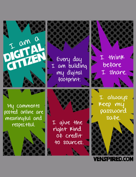 Digital Citizenship: It's More Than a Poster! - Venspired | all things teacher librarian | Scoop.it