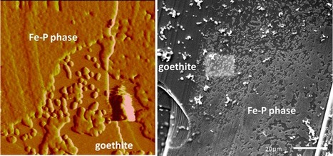 In situ Imaging of Interfacial Precipitation of Phosphate on Goethite | Mineralogy, Geochemistry, Mineral Surfaces & Nanogeoscience | Scoop.it