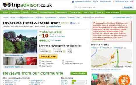 TripAdvisor slaps the dreaded red badge on a hotel, owner says no warning given | Tnooz | information technology & tourism | Scoop.it