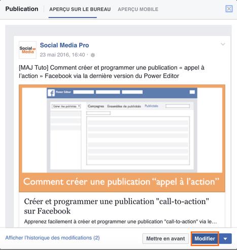 """Créer et programmer une publication """"call-to-action"""" sur Facebook   Communication pour TPE - PME   Scoop.it"""