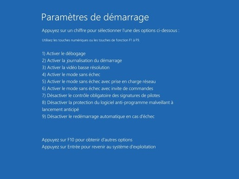 Démarrer Windows 10 en mode sans échec | Informatique | Scoop.it