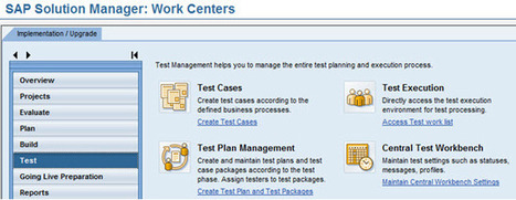 SAP Upgrades, Solution Manager, Test Plans, and Testing | Work Tech | Scoop.it