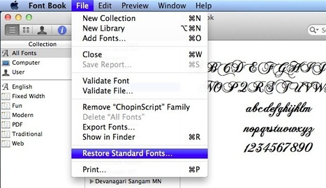 Installing and Removing Fonts in Mac OS X | All Things Mac | Scoop.it