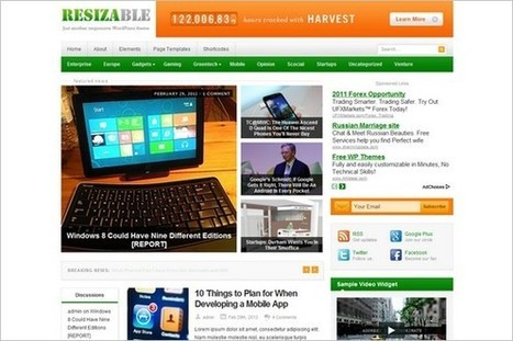 Resizable is a Responsive WordPress Theme by Theme Junkie | WP Daily Themes | Bangla Technology | Scoop.it