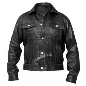 Windy Denim Style Black Leather Jacket - Mens Leather Jackets   Men's Leather Jackets   Scoop.it