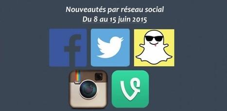 Récapitulatif des dernières fonctionnalités par réseau social : du 8 au 15 juin 2015 | Toulouse networks | Scoop.it