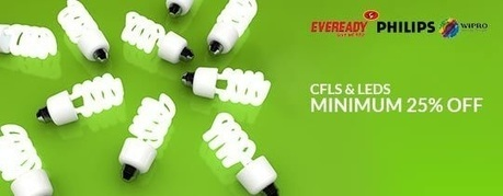 CFLs and LEDs - MINIMUM 25% OFF , deals fromElectronics, discount voucher from India | thetradeboss | Scoop.it