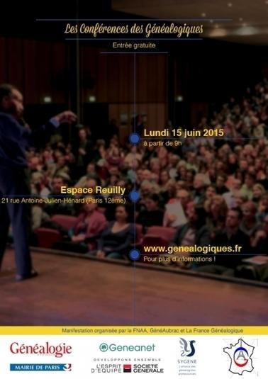 Les conférences de Généalogiques à Paris | Rhit Genealogie | Scoop.it