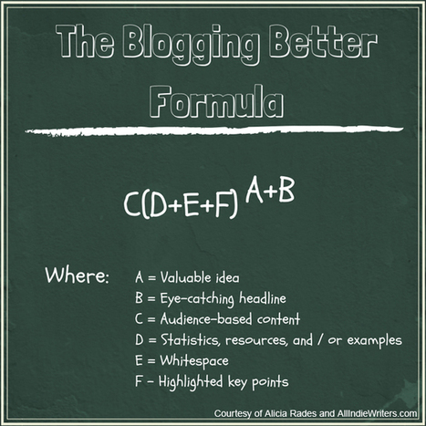 The Blogging Better Formula: 6 Essential Variables for a Better Blog | Get Paid To Write Online | Scoop.it