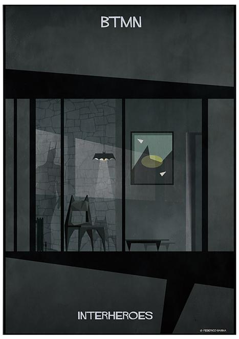 federico babina depicts the designer dwellings of style-conscious superheroes | El Mundo del Diseño Gráfico | Scoop.it