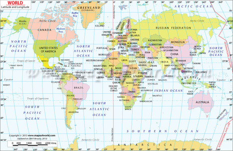 World Map with Latitude and Longitude | Services and Contributions made by community organisations and groups | Scoop.it