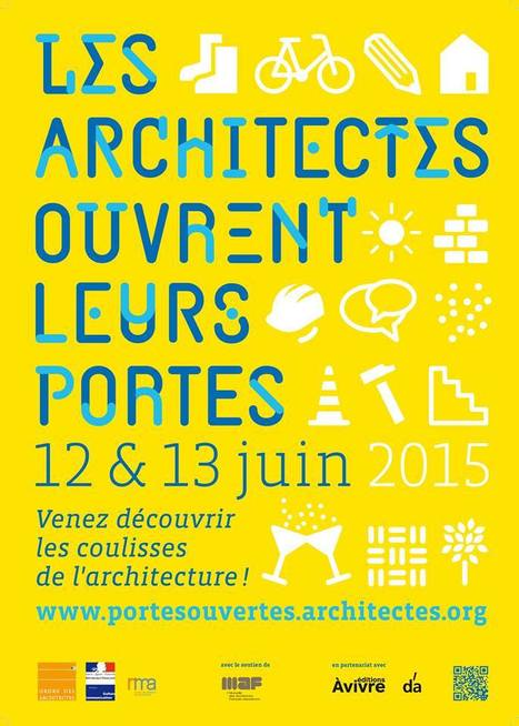 """ Les architectes ouvrent leurs portes - Affiche 2015 "" - portesouvertes.architectes.org 