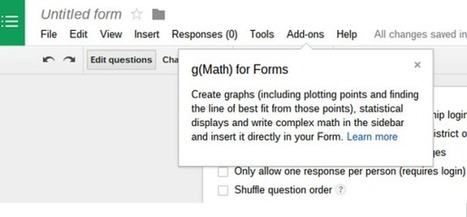Math Teachers: Add g(Math) to Google Forms! | Using Google Drive in the classroom | Scoop.it