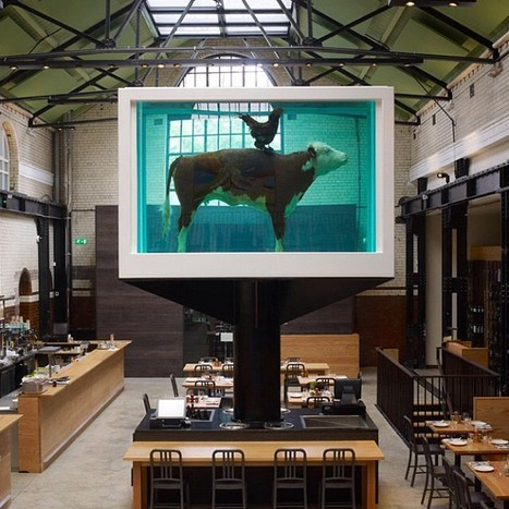 Damien Hirst at Tramshed Restaurant, London | Airport | Scoop.it