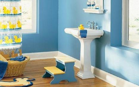 18 Cool Blue Kids Bathroom Design Ideas - Architecture Art Designs | Bathrooms | Scoop.it
