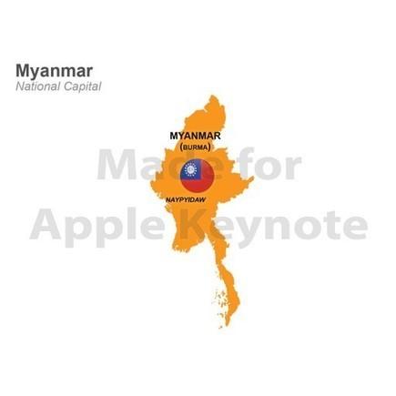 Map of Myanmar for iPad Keynote Presentation | Apple Keynote Slides For Sale | Scoop.it