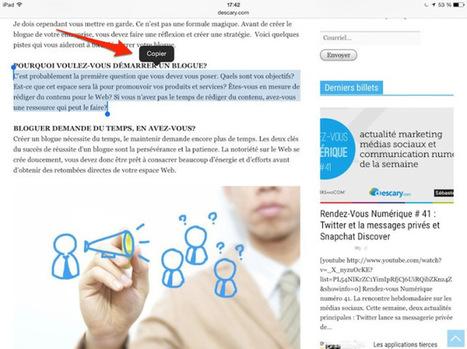 10 astuces pour votre iPad   Au fil du Web   Scoop.it
