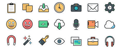 Free Download: 100 Fun and Colorful Vector Icons | elearning stuff | Scoop.it
