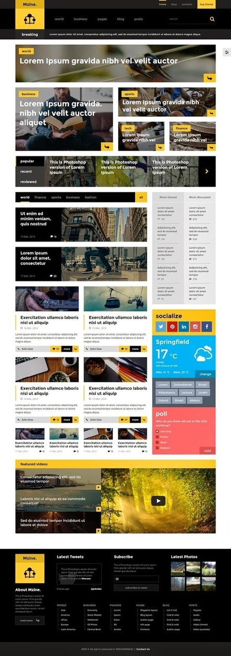 Mzine Multipurpose Responsive HTML Template (News & Blog) - Download New Themes | mobile marketing | Scoop.it