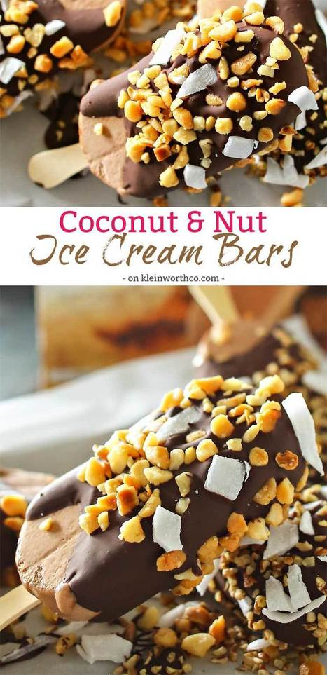 Coconut Nut Ice Cream Bars | Passion for Cooking | Scoop.it