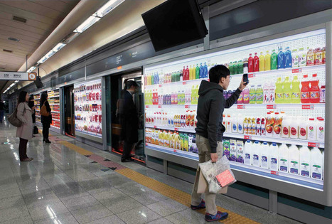 Virtual supermarket in a subway station for smart phones in Korea | Technology in EducationTeaching and Learning | Scoop.it