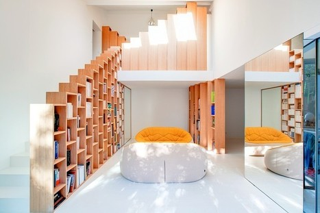 Bookshelf House is an Old House Converted into a Light-Filled Residence | Architecture and Interior Design | Scoop.it