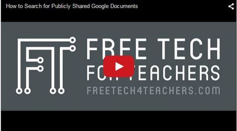 Practical Ed Tech Tip of the Week - How to Find Publicly Shared Google Docs ~ by Richard Byrne | Into the Driver's Seat | Scoop.it