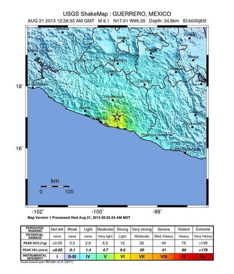 Very Strong earthquake in Guerrero, Mexico – Widespread slight ...   Structural Geology   Scoop.it