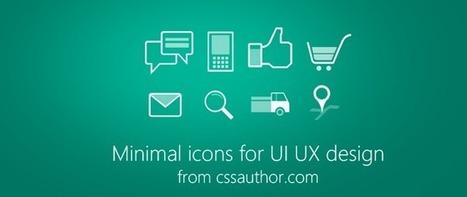 Minimal Icons PSD for UI/UX Design - Freebie No: 74 | UI Design PSD | Scoop.it
