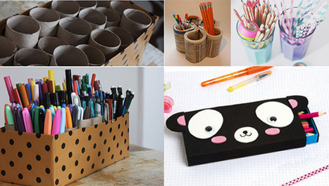 Activité enfant : Des boîtes à crayons - IdKid, blog activités manuelles | Activités manuelles | Scoop.it
