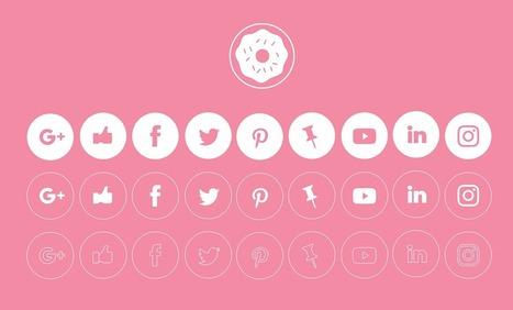 20 packs d'icônes pour vos réseaux sociaux | Graphic design | Scoop.it