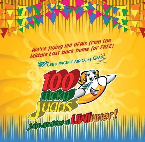 Cebu Pacific | 100 Lucky Juan Winners | findmeabreak | Scoop.it
