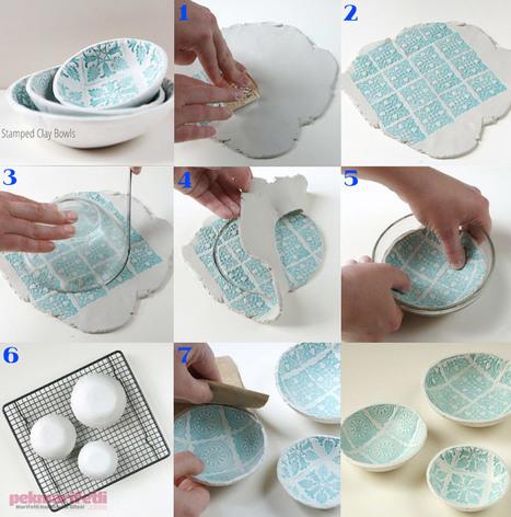 Seramik hamurundan desenli dekoratif tabak yapımı | El Yapımı | Pek Marifetli! | KADIN SİTESİ | Scoop.it