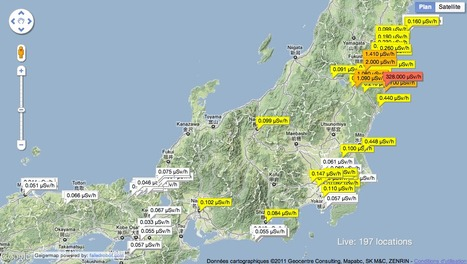 Japan Geigermap: At-a-glance | Mapping & participating: Fukushima radiation maps | Scoop.it