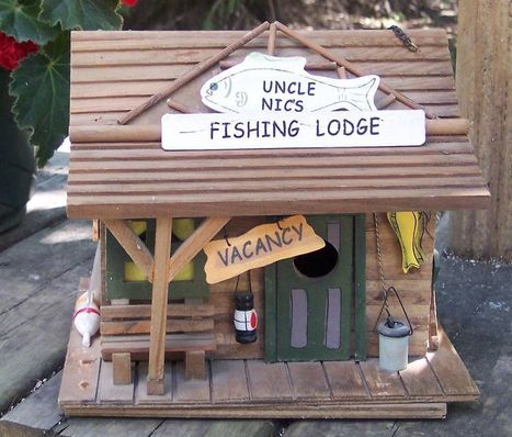 BIRD HOUSE FISHING LODGE RUSTIC CABIN NEW NEVER USED SUMMER SALE | Olive the Lake | Scoop.it