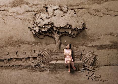 Dirt is Good: 18-ton Sand Sculpture Backdrops by JOOheng Tan #art #installation #sandart  #sculpture | Luby Art | Scoop.it