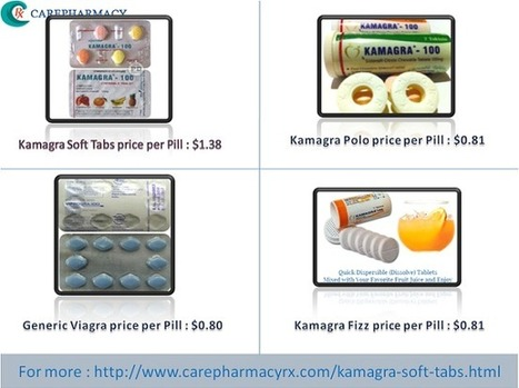 Purchase Kamagra soft tabs online at Carepharmacyrx.com | Health | Scoop.it