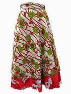 Easy Breezy Silk Sari Wrap Skirt Green Red | Bohemian Harem Pant | Scoop.it