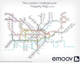 Average London Property Price By Underground Station | Information makes the world go round | Scoop.it